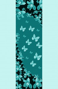 wall paper bule butterfly