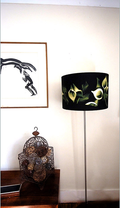 Large White lily lampshade - Click Image to Close